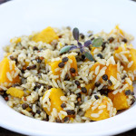 Wild Rice with Kabocha Squash & Sage Butter